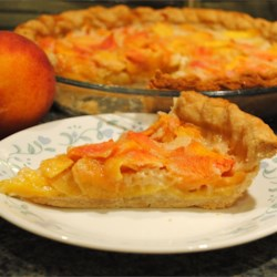 Peach Custard Pie I Recipe
