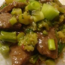Hot and Tangy Broccoli Beef