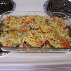 Eggplant and Tomato Casserole plus Cheese