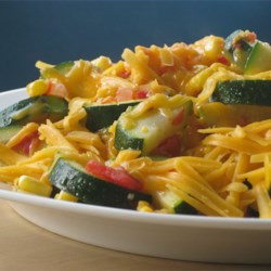 Zucchini and Corn Topped with Cheese Recipe