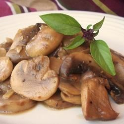 Mushrooms with a Soy Sauce Glaze Recipe