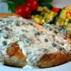 Pan Fried Halibut Steak with Light Green Sauce Recipe