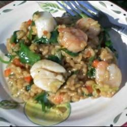 Shrimp, Leek and Spinach Risotto Recipe