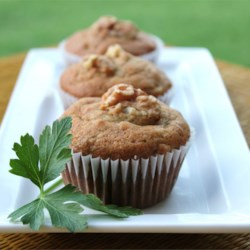 Banana Peanut Butter Bread made into Muffins