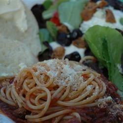 Spaghetti Dinner for my Hero