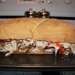 hot buffalo chicken bacon and cheese sandwich photos