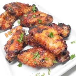 3 ingredient baked bbq chicken wings printer friendly
