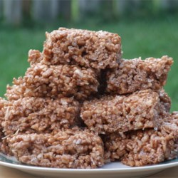 Coconut and Chocolate Rice Crispies