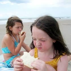 Beach and Sammiches