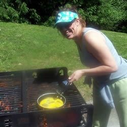 I don't grill no sloppy, slimy eggs