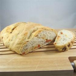 No-Knead Sun-dried Tomato Garlic Basil Bread