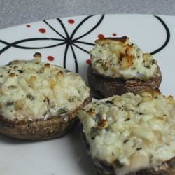 Photo of Stuffed Mushrooms with Chorizo and Gorgonzola by Raquel Teixeira