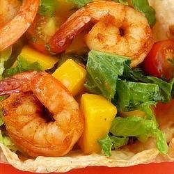 Chipotle Rubbed Shrimp Taco Salad