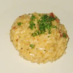 Risotto with Sun-Dried Tomatoes and Mozzarella