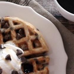 Gluten-Free Chocolate Chip Cookie Waffles