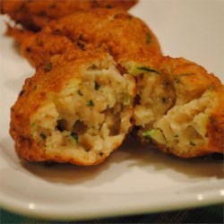 Zucchini and Razor Clam Fritters Recipe