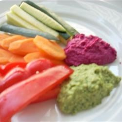 Spinach and Beet Hummus