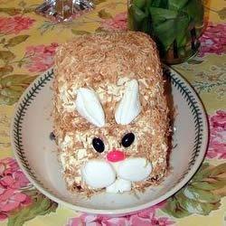 Moist Carrot Cake - Easter Bunny
