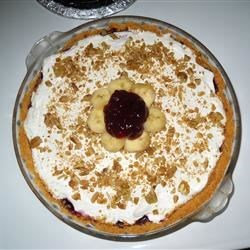 Blueberry and Banana Cream Cheese Pie Recipe