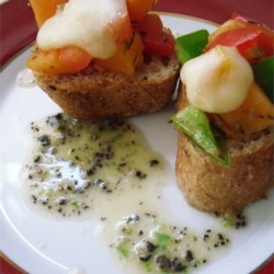 Papaya Bruschetta Recipe