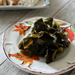 """Eat Them Right Out of the Pot"" Vegetarian Collard Greens"