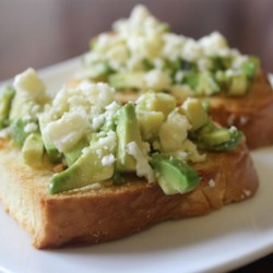 Avocado and Feta Bruschetta
