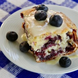 Blueberry Pudding with Hard Sauce