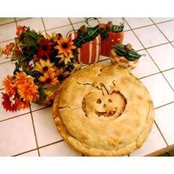 October Apple Pie - Jack-o-Lantern style!