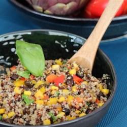 black bean corn and quinoa salad printer friendly