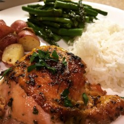 Quick and easy recipes allrecipes easy garlic broiled chicken recipe and video broiled chicken thighs are brushed with a mixture forumfinder Choice Image
