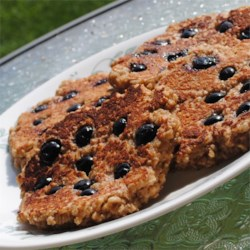 Flourless Oatmeal Blueberry Pancakes Recipe