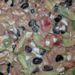 Cottage Cheese, Avocado, and Black Bean Salsa