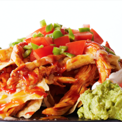 loaded bbq chicken nachos recipe printer friendly