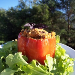 Millet-Stuffed Peppers Recipe