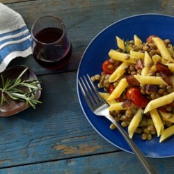 Barilla(R) Gluten Free Penne with Lentils & Bacon