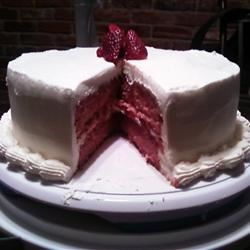 Strawberry Cake From Scratch...
