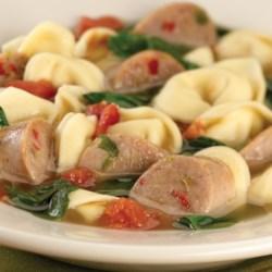 sweet italian chicken sausage and tortellini soup printer friendly