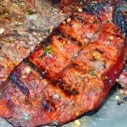 Flat Iron Steaks Marinated in Red Wine Recipe