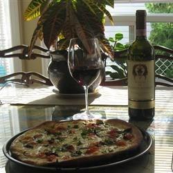 My Pizza with a 97 Fuligni Brunello