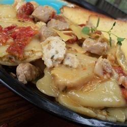 Pasta with Tuna, Sun-Dried Tomatoes, Artichoke Hearts, Lemon, and ...