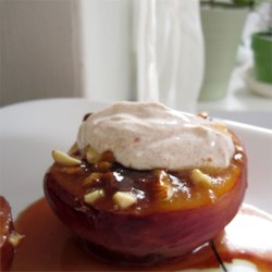 Image of Almond-Topped Spiced Peaches, AllRecipes