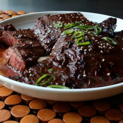 Chinese beef main dish recipes allrecipes grilled hoisin beef recipe and video skirt steak is marinated in a chinese inspired forumfinder Choice Image