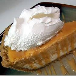 Double Layer Pumpkin Cheesecake w/ Caramel Sauce and Whip Cream