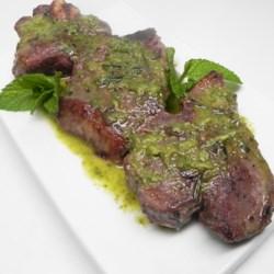 lamb chops with mint oil printer friendly