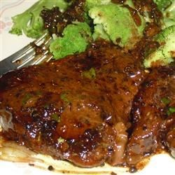 Brandy Flamed Peppercorn Steak Recipe