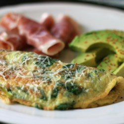 baby spinach omelet printer friendly