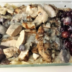 Chicken with Red Grapes And Mushrooms