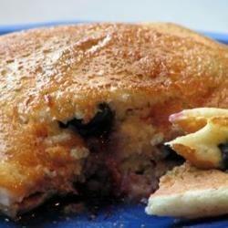 Blueberry Cornmeal Pancakes