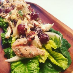 chicken salad with apples grapes and walnuts printer friendly