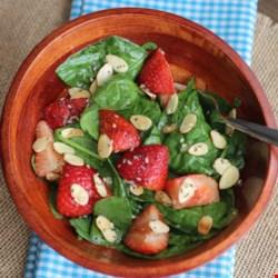 strawberry spinach salad i printer friendly